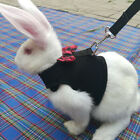 Kyпить Large Black/Red Adjustable Soft Harness with Elastic Leash for Rabbit Bunny  на еВаy.соm