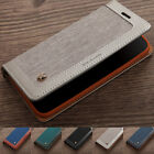 Canvas Leather Stand Card Wallet Case Cover For iPhone XS MAX XR X 6S/7/8Plus