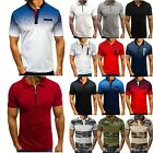 Men's Slim Fit Polo Shirt Short Sleeve Shirts Casual Summer Golf T Shirt Top Tee image