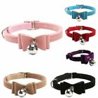 Adjustable Small Pet Dog PU Leather Collar Lovely Cat Buckle Neck Strap Pet US