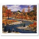 "Jane Wooster Scott ""trail Creek Autumn"" Limited Edition Lithograph On Paper"