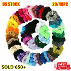 20/40Pcs Women Hair Scrunchies Velvet Elastic Hair Bands Scrunchy Hair Band