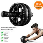 Ab Roller Exercise Dual Wheel Home Gym Workout Equipment Abdominal Core Fitness image
