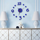 Nevoc Modern Large Wall Clock 3D Mirror Sticker Unique Number Watch DIY Decor