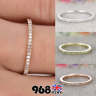 Ladies Sterling Silver Engagement Wedding Crystal Band Ring Women Jewelry Size