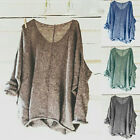 Womens Oversized Knit Sweater Loose Blouse Pullover Plus Size Casual Tops Shirt