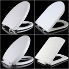 Soft Close White Toilet Seat WC Luxury Bathroom Quick Release Top Fixing Hinges