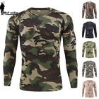 ESDY Mens Combat T-shirt Long Sleeve Camouflage Army Tactical Military Casual image