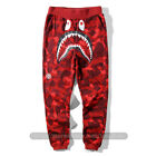A Bathing Ape BAPE Camo Shark Sweatpants Jogging Casual Long Pants Trousers