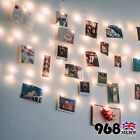 2/5/10m Window Hanging Peg Clips Led String Lights Home Party Fairy Decoration