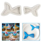 Mermaid Tail Cake Chocolate Mold Sugar Ice Mold Silicone Material US Two sizes