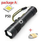 Powerful XHP50 LED Flashlight usb Rechargeable Zoomable Torch linterna Lamp
