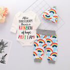 Kyпить Newborn Infant Baby Girl Boy Clothes Jumpsuit Romper Bodysuit +Pants Outfits Set на еВаy.соm
