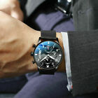 US Business Men's Stainless Steel Watch Luminous Analog Mesh Wristwatches Dress image