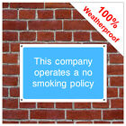 No smoking policy information sign INF79 Durable and weatherproof
