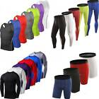 Mens Compression Thermal Under Fitness Tops Tee Shorts Long Pants Sports Clothe