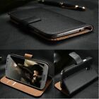 Genuine Leather Wallet Case Cover for LG G8 G7 ThinQ G6 Q6 G5 K4 2017 K10 2018