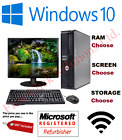 full dell hp dual core sff desktop tower pc tft computer system windows 10