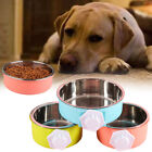 6F1A Plastic Bowl Dog Feeder Food Puppy Detachable Cage Bowl