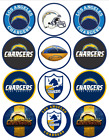 Los Angeles Chargers Pre-Cut Cupcake Toppers LA charger icing sheets $8.0 USD on eBay