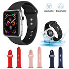 Silicone Apple Watch Band Strap For Series 5/4/3/2/1 42/40/44mm Women Men Child image