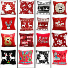 18'' Merry Christmas Pillow Case Cushion Covers Decorative Throw Patio Couch