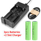 2600mAh INR 18650 Battery Rechargeable 3.7V Li-ion Batteries With Case Charger