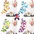 12 Pcs 3d Butterfly Wall Stickers Art Decal Home Room Decorations Decor Kids W