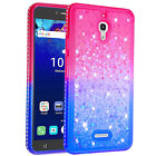 Diamonds Glitter Quicksands Phone Cover For Alcatel PIXI 4/1X Evolve/7 Folio
