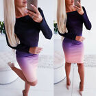Women Bandage Bodycon Casual Long Sleeve Evening Party Cocktail Club Mini Dress