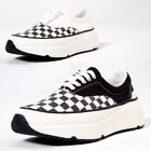 NewStylish Mens Fashion Chess checkered contrast big sole sneakers