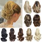 Short / Mega Thick Claw Clip in Hair Extensions Ponytail as Natural Human Hair T