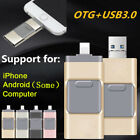 512GB Flash Drive USB Memory Stick U Disks 3 in 1 for Android/IOS iPhone LOT PC