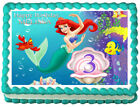 THE LITTLE MERMAID Ariel Party Edible cake topper image