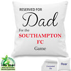 "Personalised Southampton Football Fan Cotton Cushion Dad, ANY Name 18""x 18"""