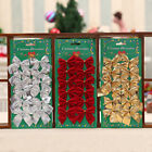 12+Pcs+Christmas+Tree+Bowknot+Decor+Xmas+Wedding+Party+Garden+Ornament+Bow