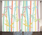 Room Decor with Rod Pocket for Curtains 2 Panel Set Window Drapes by Ambesonne