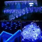 US Connectable 96-1000 LED String Lights Fairy Icicle Snowing Curtain Xmas Decor