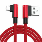 Red L-Shape Nylon Data Sync Charger Lead For Sony Xperia miro
