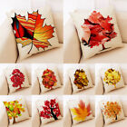 Yellow Maple Leaf Silhouette Autumn Harvest Home Decor Cushion Cover Pillow Case $3.35 USD on eBay