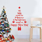 Christmas Wall Window Stickers Home Decor Supplies Xmas Ornament New Year T