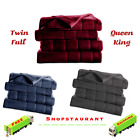 Heated Electric Fleece Channeled Blanket Soft Warm Washable Full Bedding Cover image