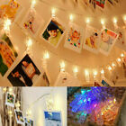 10 / 30 Photo Window Hanging Peg Clips Led String Lights Home Party Fairy Decor