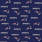 New England Patriots Fabric by the Yard or Half Yard, Mini Print, NFL Cotton Fab $5.25 USD on eBay