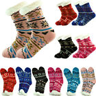 Thick Nonskid Sherpa Fleece Lined Thermal Snowflake Home Fuzzy Slipper Socks LOT