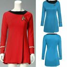 Classic Star Trek The Female Duty Red Blue Uniform Dress Cosplay Costume Outfit on eBay