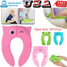 Foldable Potty Training Seat Baby Travel Toilet Potty Seat Covers Non Slip Pads image