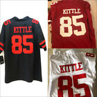 New Men's San Francisco 49ers 85# George Kittle Black/Red Jersey M-3XL