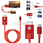 Red Type C to HDMI HDTV TV Cable Adapter For Samsung Galaxy S10 Note 9 MacBook