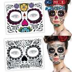 Face Facial Makeup Day Of The Dead Temporary Tattoo Stickers Halloween Dress up $6.52 USD on eBay